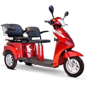 E-Wheels EW-66 2 Passenger Heavy Duty 500 Watt Electric Trike Three-Wheeled Mobility Scooter - Model: EW-66 Scooter by SaferWholeSale