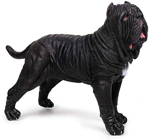 JLXQL Collectible Sculptures For Home Statue Figure Ornament Solid Simulation Animal Toy Model Dog Ornament
