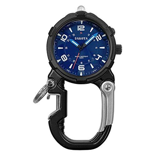 Dakota 91625 Bottle Opener Mini Clip Microlight Carabiner Watch (Black)