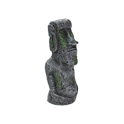 Balai Resin Ancient Easter Island Moai Monolith Statue für Aquarium, Aquarium Dekorationen, Desktop Ornamente