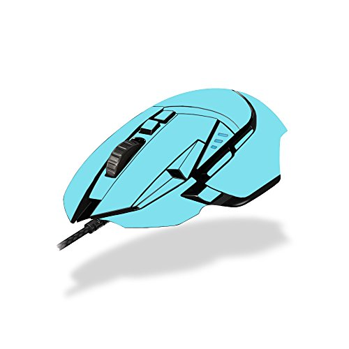 MightySkins Skin Compatible with Logitech G502 Proteus Spectrum Gaming Mouse - Solid Baby Blue | Protective, Durable, and Unique Vinyl wrap Cover | Easy to Apply, Remove | Made in The USA