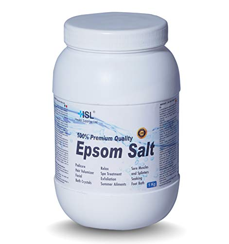 HSL - Sale da bagno Epsom 1 kg (sale solfato di magnesio)