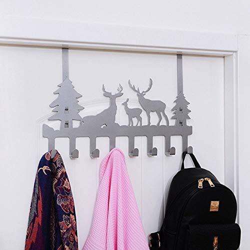 WHLJKN haak tot Kerstmis Elk Keuken Opslag Rack Thuis Kast Plank Ophanghaak Organizer Closeer Kleding Glazen Mok Plank Kledingkast Houder