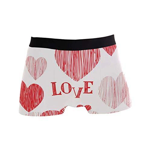 Elroy Gibbon Herren Boxershort Boxer Glückliche Valentinstag-Karte Männer Unterhosen Unterwäsche,7,XL
