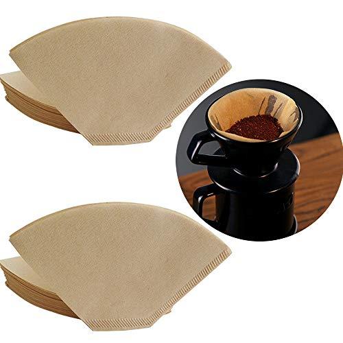 yyuezhi 80 Stück KaffeeFilter Papier Papierfilter Filtertüten Filter Papier KaffeeFilter Papier Kaffee Filtertüten für Ein Ausgewogenes und Aromatisches Geschmackserlebnis Ihres Filterkaffees, Brown