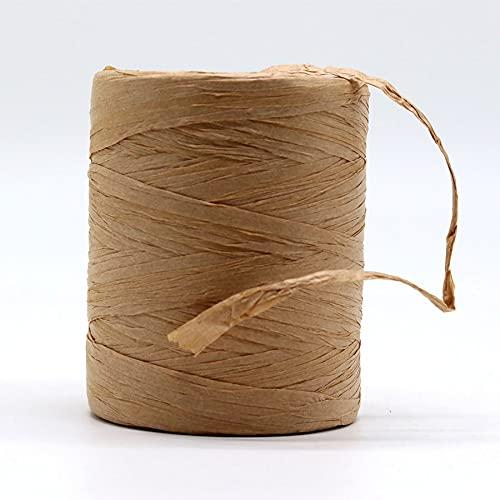 LiuliuBull Rafia Natural Hilado Moda Sumer Rafia Ropa Cuerda Mano Hand Crochet Foldabe Raffia Bolsa Hatm para Handknitting Raffia Straw Sombreros (Color : Khaki)