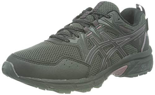 Asics Gel-Venture 8 Waterproof, Trail Running Shoe Mujer, Black/Grape, 36 EU