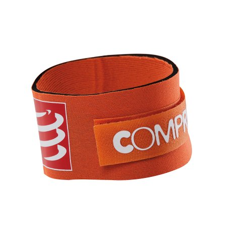 COMPRESSPORT Timing Chip Strap - Cinturón de hidratación para Running, Color Naranja, Talla UK: Talla 5 to 6