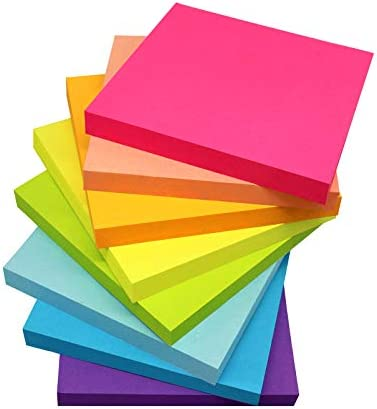 Pop Up Sticky Notes 3x3 Inches Bright Colors Refills Self Stick Pads Easy to Post for Home Office product image