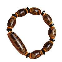 ZHIBO Tibetischen dzi perlen-Armband Old Agate 9 Augen Totem amulett elastisches Seil-Armband
