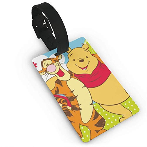 Pooh and Tigger Luggage Tag Adjustable Strap Bag Baggage Name,Accessories Tags for Tourists
