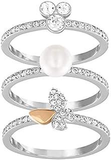 Swarovski Cute Rhodium Plated Crystal Stacking Ring - Size 18.15 mm