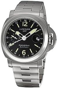 Panerai Men's PAM00297 Luminor GMT Black Dial Watch image