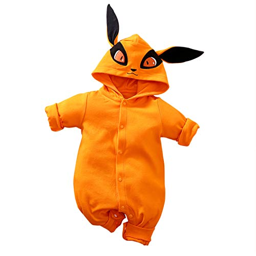 RELABTABY Cute Baby Boy Girl Romper Newborn Anime Onesie Toddler Halloween Cosplay Jumpsuit Outfit Clothes Orange