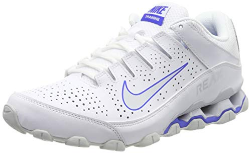 Nike Herren Reax 8 TR Cross-Trainer, Weiß (White/Pure Platinum-Racer Blue-Red Orbit 103), 42.5 EU