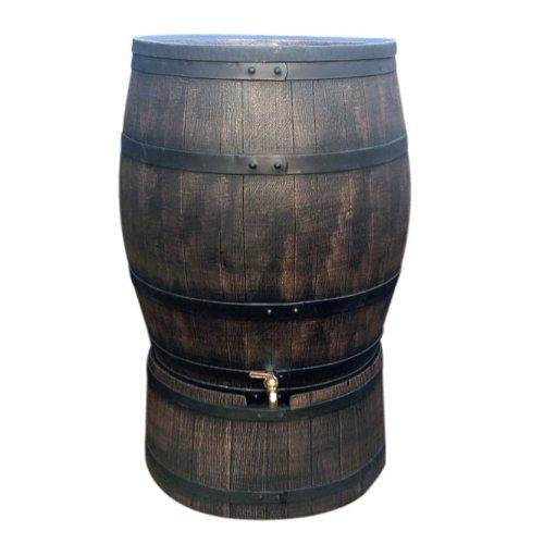 ウイスキー樽風プラスチック製雨水貯留タンク「ウィリアム」240L