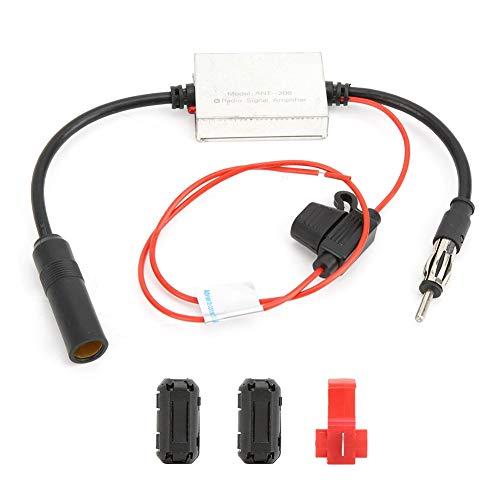 Amplificador de radio de antena, Universal 12-24V Radio de coche FM Antena aérea Señal de recepción Amplificador Amplificadores