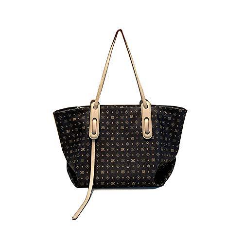 plhzh Bolsos Bolso de textura versátil para mujer Bolso de gran capacidad de un hombro a la moda, el mejor regalo-brown