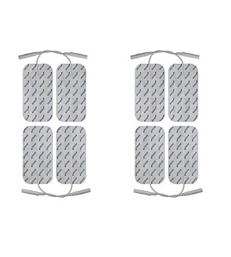Set de 8 electrodos largos axion | Compatibles con CEFAR COMPEX | Parches para su aparato electroestimulador TENS y EMS | Electrodos para TENS | Electrodos para EMS