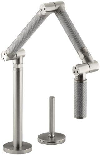 Big Sale Best Cheap Deals KOHLER K-6227-C11-VS Karbon Articulating Deck-Mount Kitchen Faucet, Vibrant Stainless