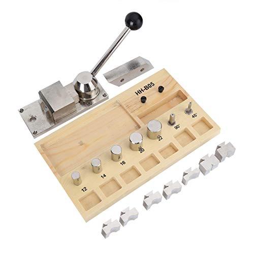 Máquina para doblar anillos de joyería, herramientas para doblar pendientes de anillo, herramientas para hacer joyas para doblar anillos, con soporte de madera, componentes electrónicos sofisticados,