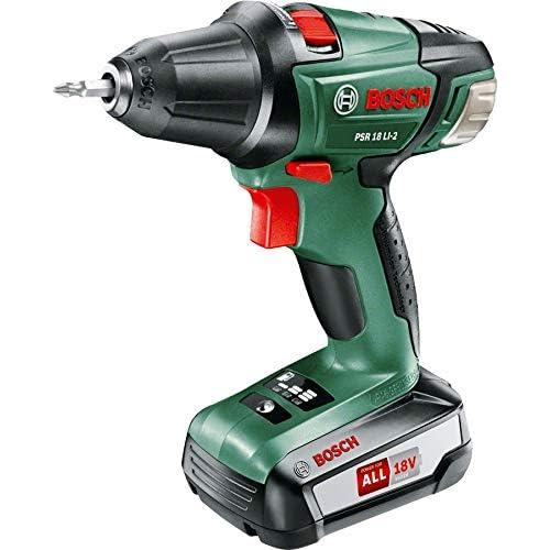 Bosch Home and Garden 0.603.973.302 Atornillador, Taladro de batería de Litio, 18 W, Negro, Verde, Rojo, 18 V