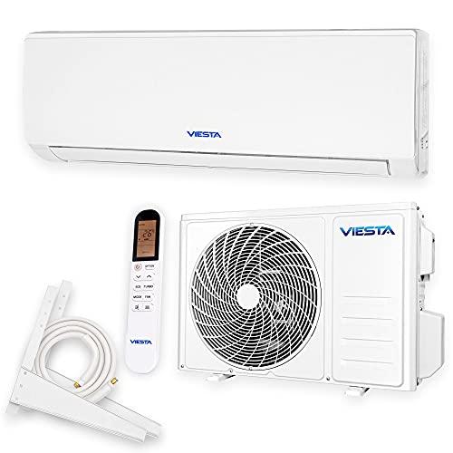 VIESTA 09SQ Split Klimaanlage Inverter Splitgerät Klimaanlage im Komplettset, Klimagerät Split mit Heizfunktion, Quick Connect, Fernbedienung, WiFi App-Steuerung (9000 BTU)