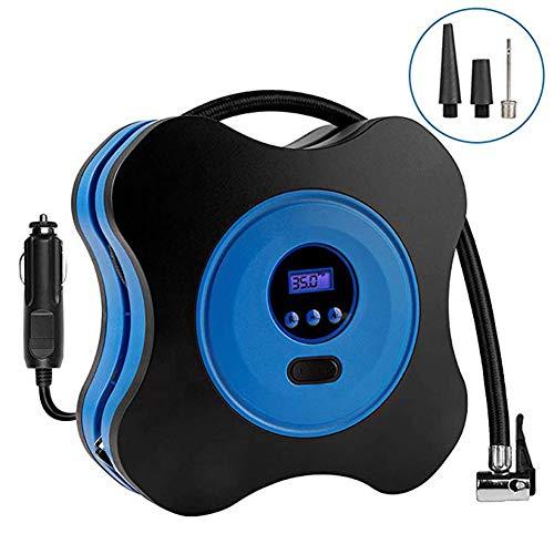 YOTG 12V DC Pneu gonfleur électrique Portable Affichage numérique PRESET Pneu Pression LED éclairage Voiture compresseur d'air Pompe à 100PSI Voiture, Camion, vélo, Basketball