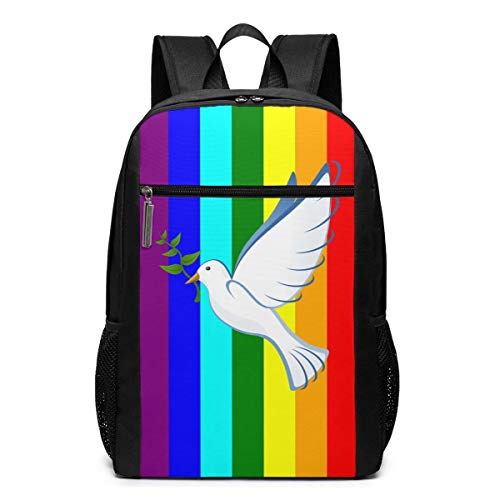 ZYWL Peace Pigeon Laptop Rucksack 17-Zoll-Reiserucksack Bookbag Bussiness Bag