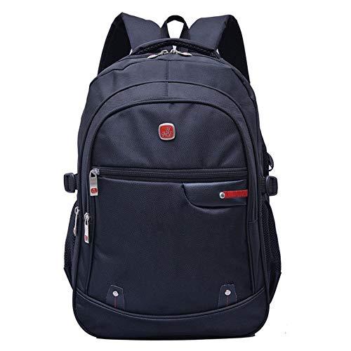 Zaino per computer portatile 15.6, da uomo, con scomparti, per studenti universitari, viaggi, scuola, affari, all aperto, escursionismo, nero