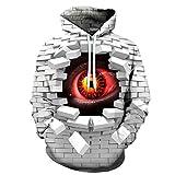 RONGJJ Hoodie Unisex Hoodie 3D Impreso Sudadera con Capucha Confortable Sweatshirt Patrón Cubo Pullover con Bolsillos Drawstring XXS-6XL Novedad, D, S