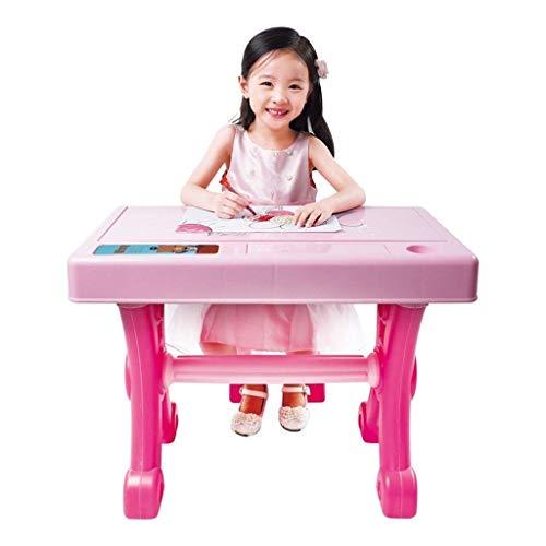 ZXL Digital Piano Kinder 's Schreibtisch Klavier Multifunktionstastatur Anfänger Musik Toy Girl 3-10 Jahre Alt Power Mode (Farbe :) (Farbe :),Rosa
