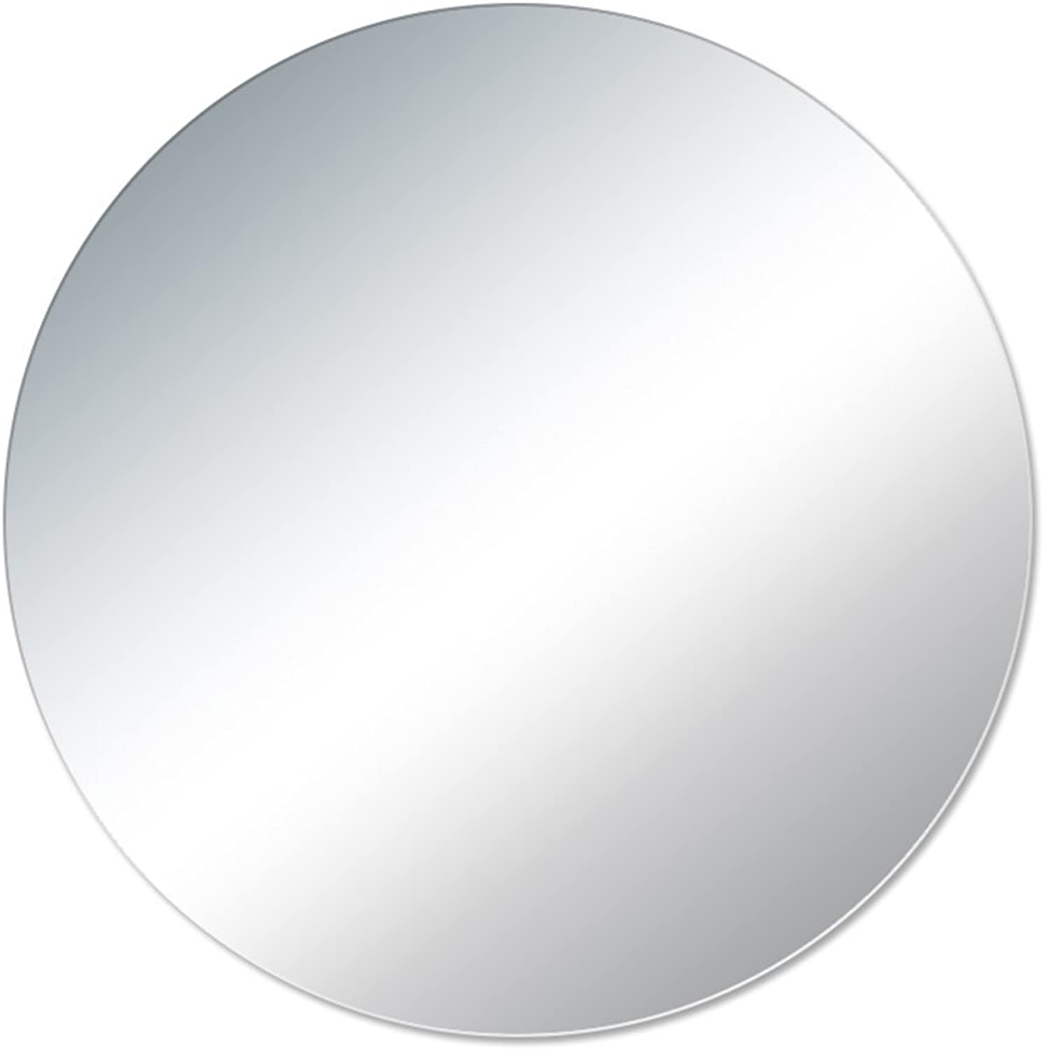 Bathroom Mirror HD Explosion-Proof Round Frameless Mirror Wall-Mounted Vanity Mirror