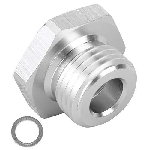 Adaptador de sensor de presión de aceite, conector de aluminio de aceite M16x1,5 a 1 / 8NPT para motor de la serie LS