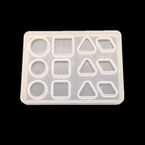 PeHtion DIY Silicone Mold Resina Gioielli Stampo attrezzo per creazione Artigianato di Ornamento Geometrico Mold, D:三角