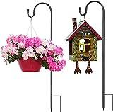 DKINY 100cm Garten Schäferhaken 2pcs Hirtenhaken Schmiedeeisen rostbeständig Gartenstab Laternenstab Schäferstab mit Haken zum Aufhängen von Vogelfütterer Blumen Laterne Beleuchtung Windspiele