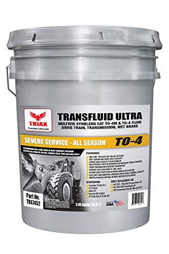 Triax TRANSFLUID Ultra to-4 - Multi-Viscosity Powershift Transmission TO-4M Drive Train and Heavy Duty Transmission Fluid (5 GAL Pail)