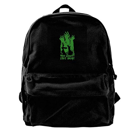 maichengxuan Canvas Backpack They Wont Stay Dead Night of The Living Dead Rucksack Gym Hiking Laptop Shoulder Bag Daypack for Men Women