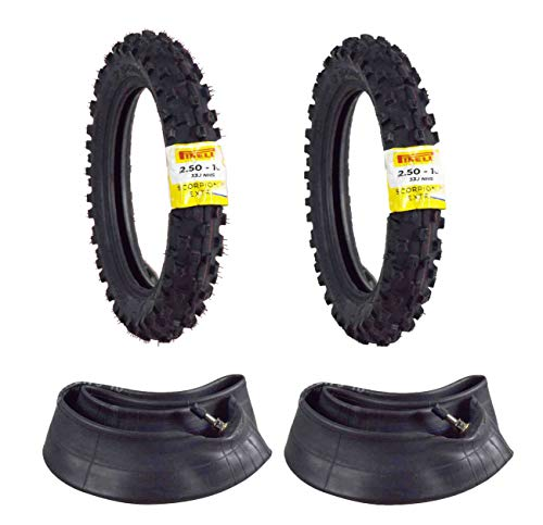 Pirelli Scorpion MX Extra J 2.50-10 Pit Bike 33J Motorcycle Front & Rear Tire w/Tubes 2.5-10 Two Pack