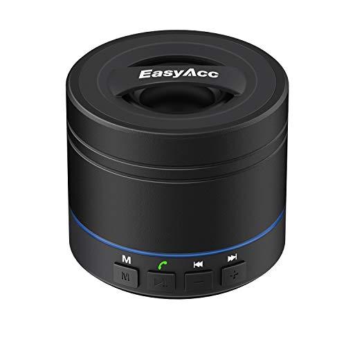 EasyAcc Mini altavoz Bluetooth portátil recargable para iPhone, Samsung, tableta, portátil, Ultrabook con micrófono, soporte para tarjeta micro SD y función FM- negro