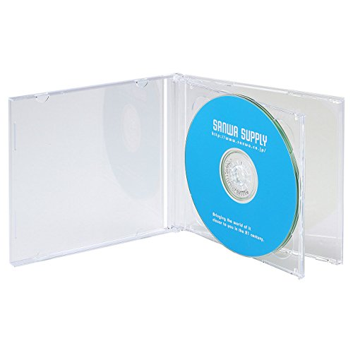 『サンワサプライ CD・DVD・BDケース 2枚収納×5枚セット 厚さ10mm クリア FCD-22CN』のトップ画像