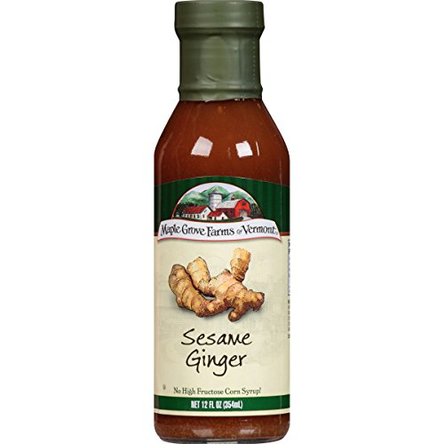 Maple Grove Farms Salad Dressing, Sesame Ginger Dressing, 12 Ounce