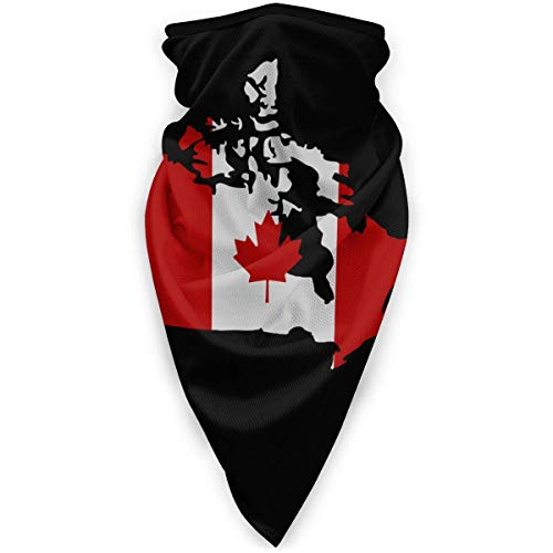 Headwear Canadian Map With Canada Flag Bandanas Cycling Winter Festivals Beautiful Neck Gaiter Motorcycling Warmer Windproof Womens Printed Sports Outdoors Multifunctional Seamless