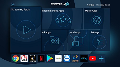 SkyStream Two Streaming Media Player Android TV Box 3GB DDR4/32GB 4K Ready to Stream