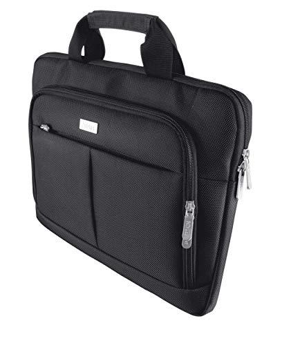 Trust Sydney Borsa per Laptop Sottile da 14  con Vano Porta-tablet, Nero