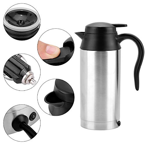 Car Heater Cup, Portable 750ml 24V Travel Car Truck Boiler Boiler Bottle For Tea Coffee Drinking