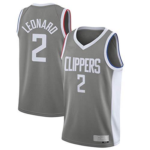 Camiseta de baloncesto al aire libre Kawhi LA NO.2 Clippers Leonard 2020/21 Swingman jugador Jersey gris - Edición ganada