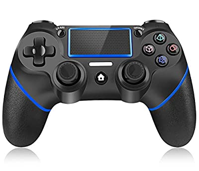 Controller for Playstation 4, Y Team Wireless Controller for PS4, Gamepad Joystick Remote Controller Compatible with Playstation 4/Pro/Slim/PC, Dual Vibration/Audio Function/Charging Cable (Blue)
