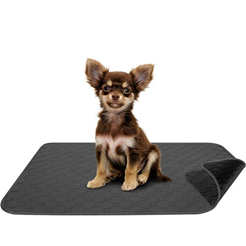 POPETPOP 2 Pcs Dog Pads - Non Slip Puppy Pee Mats with Ultra Absorbent| Reusable Waterproof Pet Pad for Training, Travel, Whelping, Housebreaking, Incontinence, Crate, Floor