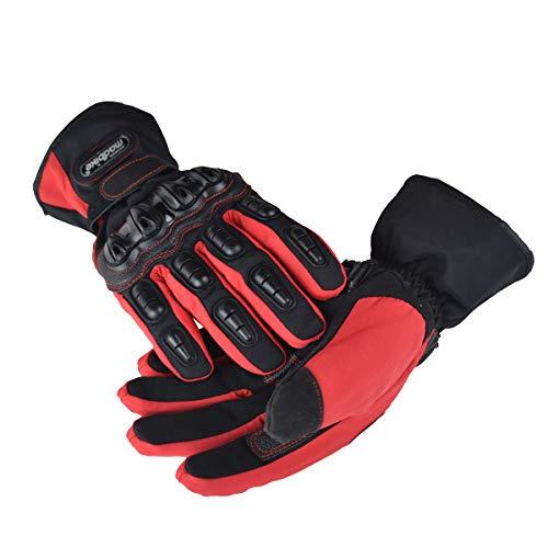 madbike guantes de moto guantes de moto impermeable invierno motocicleta para mujer M,L,XL,XXL red-XL